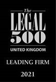 Legal 500 leading firm 2020 award logo