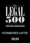 Legal 500 recommended lawyer 2020 award logo